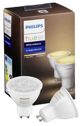 philips 1x2 philips hue white ambiance led gu10 dim 5 5w 40w wei philips hardware. Black Bedroom Furniture Sets. Home Design Ideas